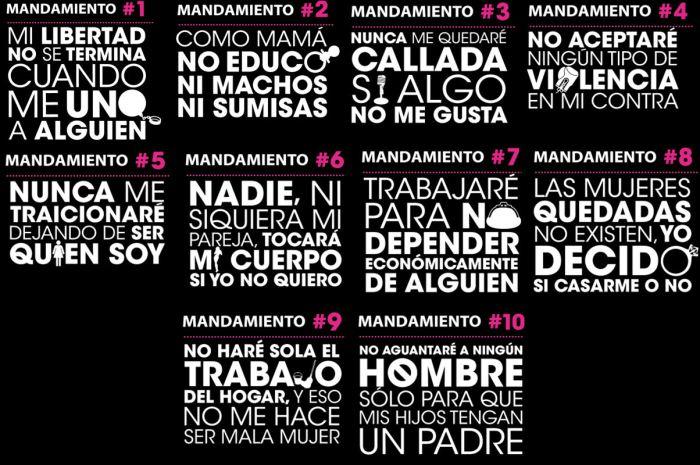 10 mandamientos de la mujer, campaña mexico