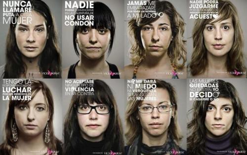 derechos de la mujer, 10 mandamientos, feminidad